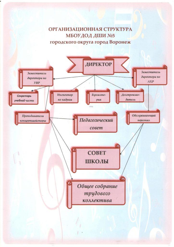 Организационная структура МБОУ ДОД ДШИ №5